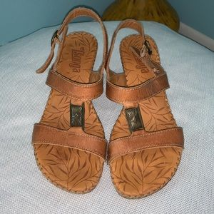 Tsonga size 40 9 Brown Leather Heeled Sandals
